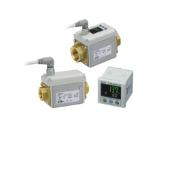 SMC 3-Color Display Digital Flow Switch LFE