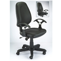 Leather Meeting Room Chair, Black