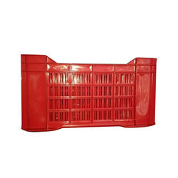 Red Rectangular Vegetable Crate
