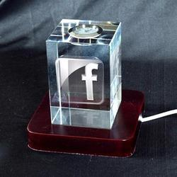 3D Crystal Personalized Corporate Gift (3D-Clock-E)