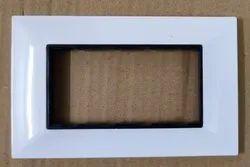 Polycarbonate White 4 WAY MODULAR SWITCH PLATE