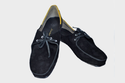 Leather Flame Loafer Black Shoes