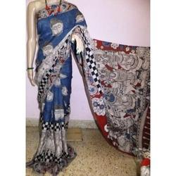 Multicolor Cotton Kalamkari Printed Sarees