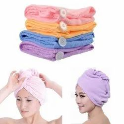 Soft Hair Quick Drying Towel Wrap Assorted Orange Pink and Blue New
