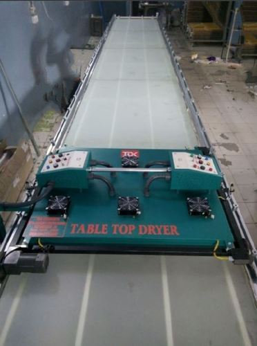TDK Glass Top Screen Printing Table With Dryer | ID: 2109946097