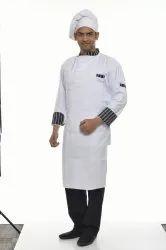 Black Stripe Chef Coat White