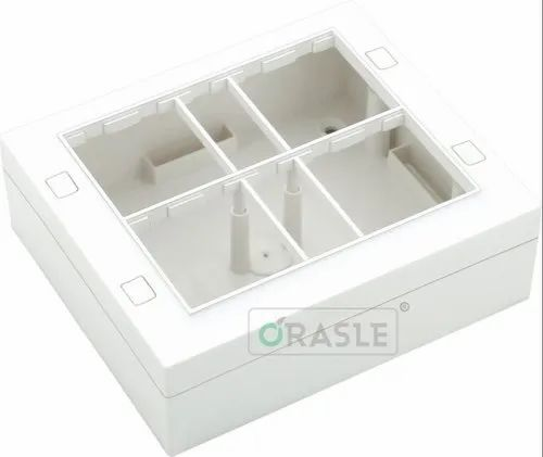 Plastic Sqare Modular Surface Gang Box Silverline 10m