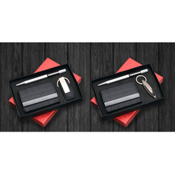 Pen Card Holder and Key Chain Set