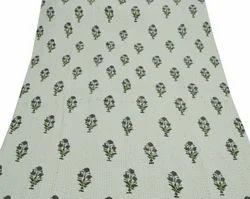 Floral Print Cotton Kantha Quilt