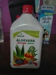 Sovam Aloevera Orange Juice, Packaging Size: 1000 ml, Packaging Type: Bottle