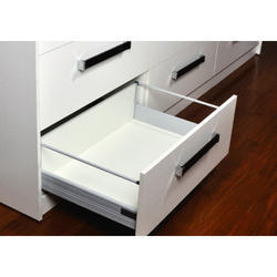 Modern White High Fronted Railing Drawer for Kitchen