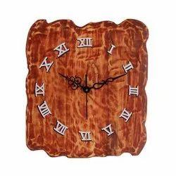 Udveg Analog Antique Wooden Wall Clock, Size: 34 Cm X 30 Cm, Model Name/Number: 01