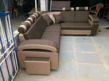 Solid Wood And Fabric L Shape Modern Sofa Set, Rs 48000 /piece | ID ...