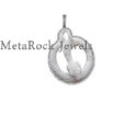 Snake Design Bone Charm Pendant