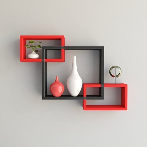 Red Black Wooden Woodworld Home Decor