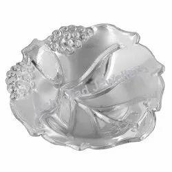 Fancy Design Silver Bowl with Hallmark 83.5