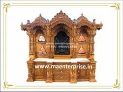 Big Wooden Temple With Base Cabinet Drawers