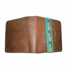 Mens Dark Brown Synthetic Leather Wallet