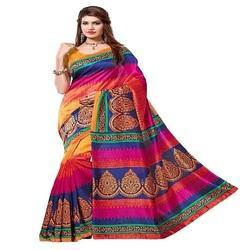 Printed Party Wear Ladies Designer Saree with Blouse Piece