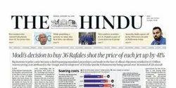 NEWS COVERAGE BY HINDU NEWSPAPER