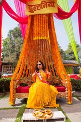 wedding haladi maharashtrian decoration, India