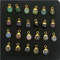 Semi Precious Gemstone Smooth Tumble Charms