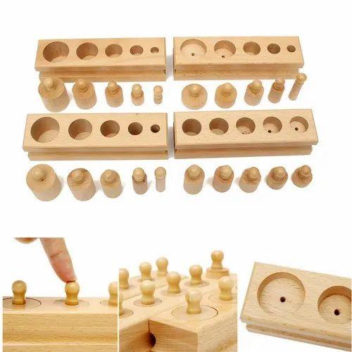 Wooden Cylinder Blocks, For Decoration