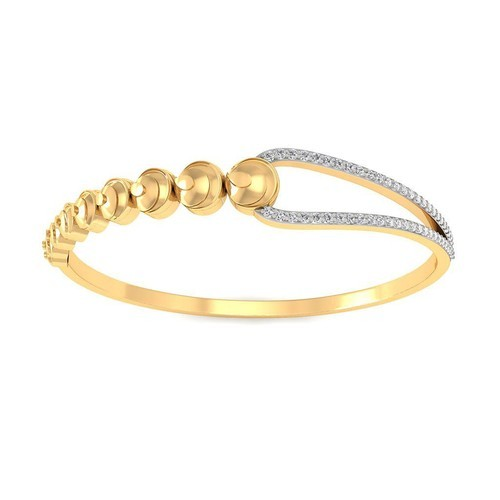 Sarvada Jewels Real Diamond Womens Bracelet In 18k Yellow Gold