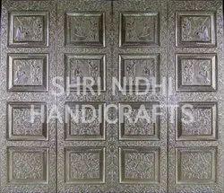 Silver Temple Door