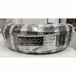 Sargo PVC (Insulated Material) 3 Core Electric Cable, 1100 V, Crossectional Size: 1.5 Sqmm