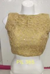 9f1d930ab86fcd Beige And Gold Dupion Blouse