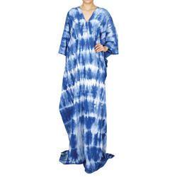 Tie Dye Beachwear Ankle Length Kaftan