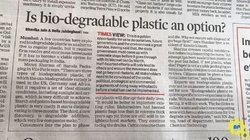 Is Bio degradable plastic an option ??