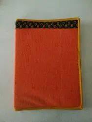 Jute+cotton Fabric Lovika Ecofriendly Jute Cotton File Folder, Size: 14*10.5 Inches