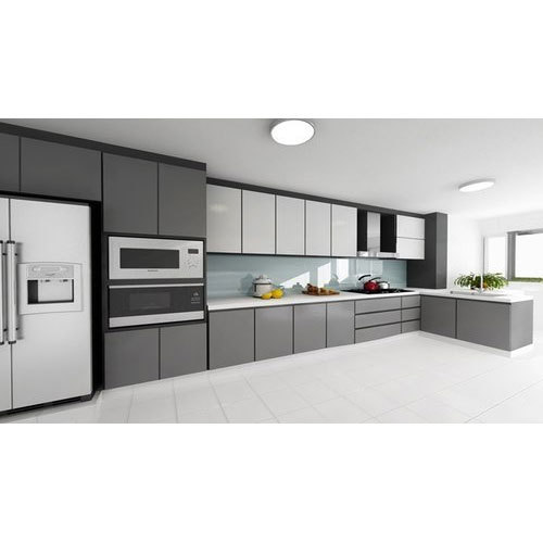 Wooden And Aluminium Designer Modern Kitchen Cabinet Rs 200000 Set
