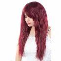 Fluffy Style Full Head Burgundy Hair Wig