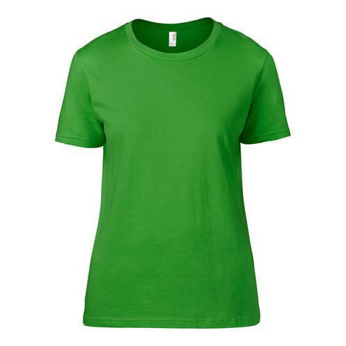 312011080 Cotton Ladies Round Neck Green Plain T Shirt, Size: XL, Rs 120 ...