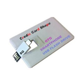 Credit Card Shape OTG Pen Drive