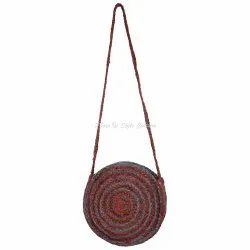 Cross Body Wallet Jute Handbags for Ladies
