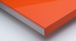 Orange Scratch Proof High Gloss Acrylic Laminated Board