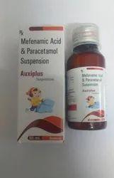 Auxiplus Suspension Upto 12 Years Paracetamol Plus Mefenamic Acid, For Commercial, Packaging Size: 60 Ml