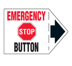 Emergency Stop Button Arrow Labels