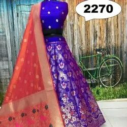 Banarasi Silk Unstitched Party Wear Lehenga