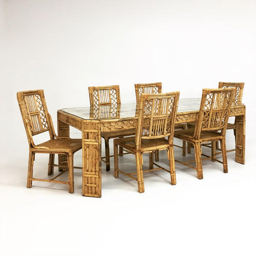Bamboo Table With Design: Bamboo Dining Table, Dining Table