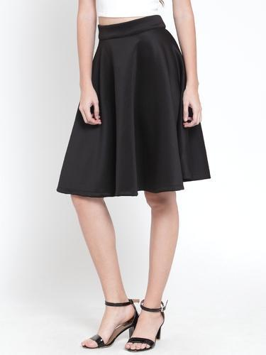 27e1229aa1 Spandex Black Knee Length Skater Skirt, Rs 715 /includes tax ...