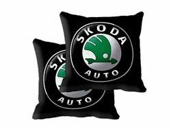 Skoda Car 2 Piece Microfibre Cushion Cover With Filler Set