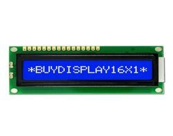 16x1 Character Blue LCD Display Module