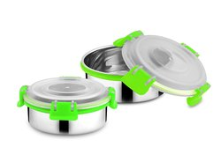 Rident Kitchen Silver Stainless Steel Bowls, Size: 10 CM, Capacity: 300 ML