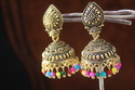 Black Oxidized Trendy Golden Jhumka