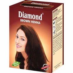 Diamond Brown Herbal Based Henna, Packaging Type: Box